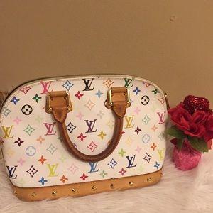 Authentic Louis Vuitton Multicolored Murakami Bag